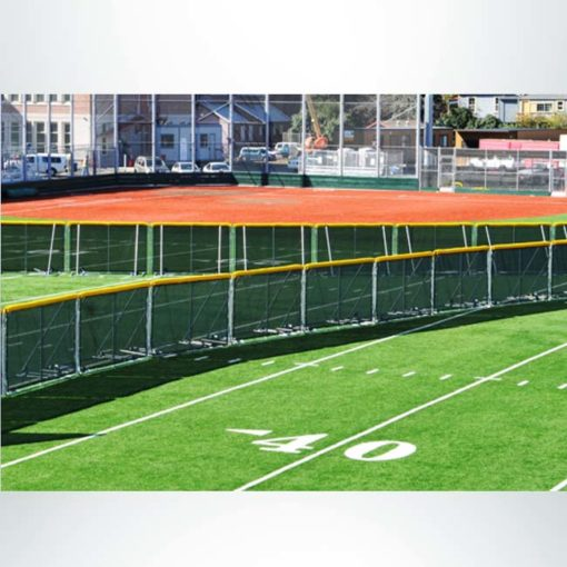 Model #SFPORTABLEFENCE. Portable fence for baseball outfield.