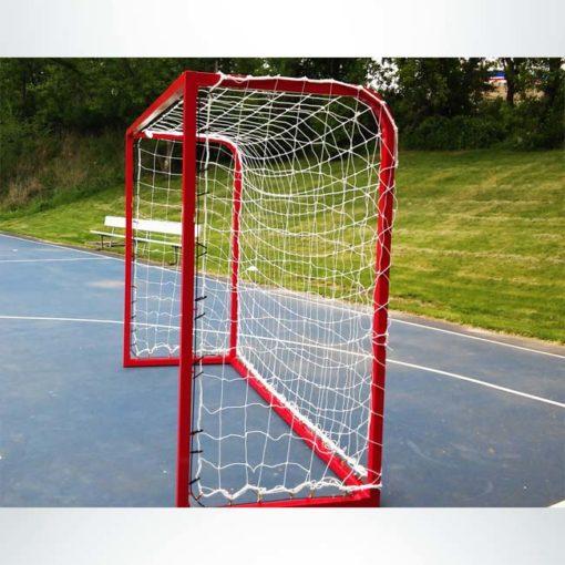 Model #SGEFUTSAL. Futsal goal powder coated red.