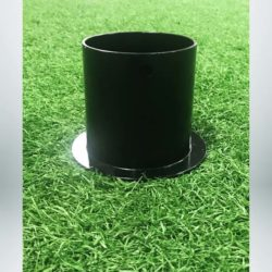 "Model #SL4RDCAP. Cap for ground sleeve for semi-permanent 4"" round soccer goals."