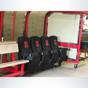 Custom shelters Rutgers leather seats