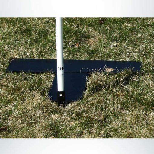 Model #ASM4. Turf marker with steel base corner flag.