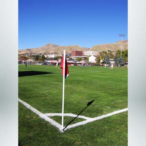 Model #CFO. Corner flag with steel base.