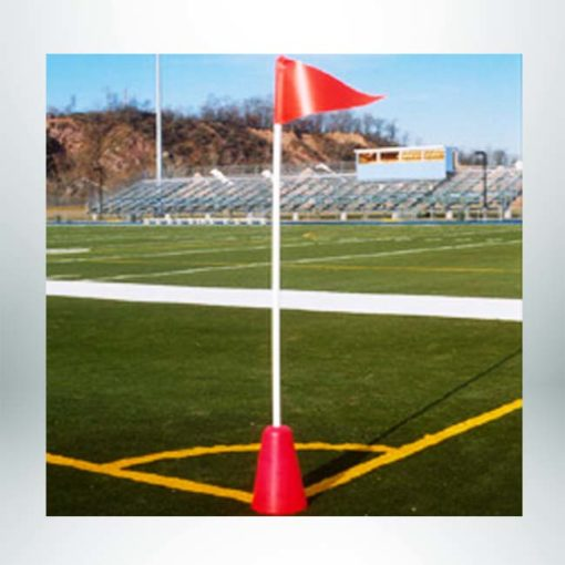 Model #CFOCONEBASE. Corner flag for turf with weighted cone flag.