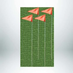 Model #ECF. Economy corner flags.