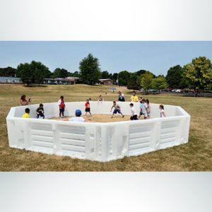 White GaGa Ball Pit with kids playing in it at Syracuse JCC.