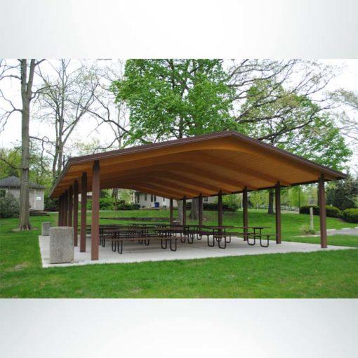 Model #RCPLWG3052-04. 30'x52' laminated wood gable park shelter.