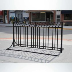 Model #PRSUNBR. Metal Bike Rack in Black Finish.