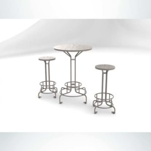 Model #PRBISTRO. Metal Bistro Table Perfect for Outdoor Seating at Restaurants and Bars