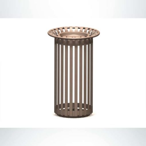 Model #PRBRKS. Metal ash urn in tan.