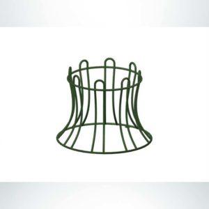 Model #PRBRKBR. Metal round bike rack in black.