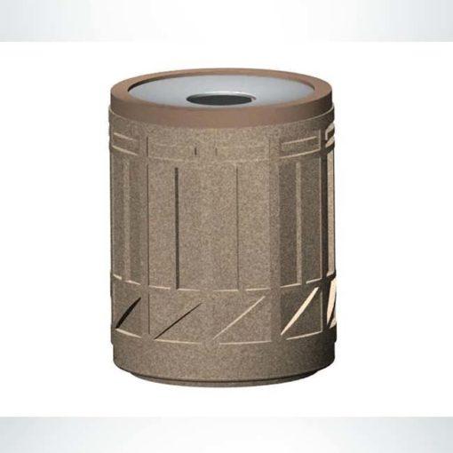Model #PRTCR-COL. Concrete round trash receptacle.