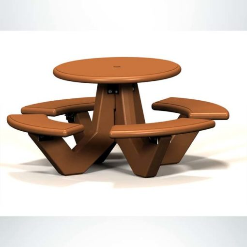 Model #PRROTS. Round concrete picnic table for parks and businesses.