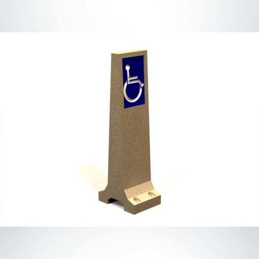 Model #PRHCB1. Concrete handicap bollard.