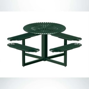 Model #PRSUNDRND. Round Metal Outdoor Table for Parks and Businesses in Evergreen