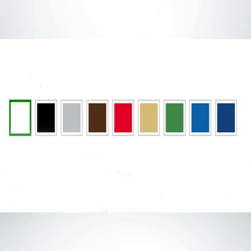 Color options for quick fit windscreen. White, black, grey, brown, red, gold, green, royal blue, blue.