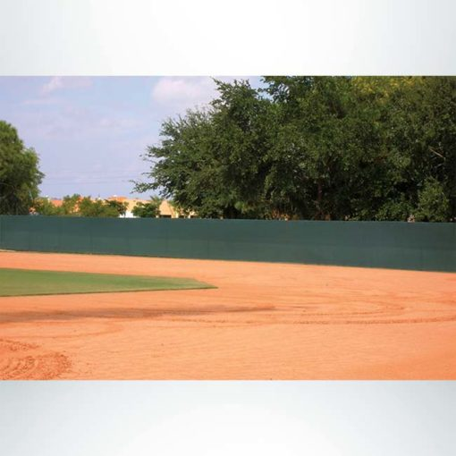 Quickfit windscreen for athletic facilities.