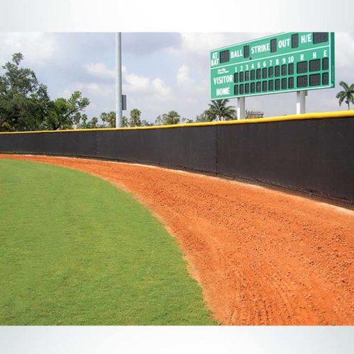 Quickfit windscreen for baseball stadium.