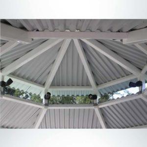 Gazebo park shelter inside of the roof.
