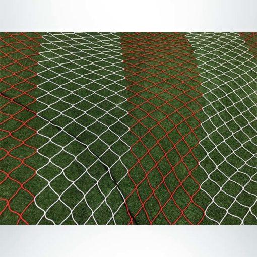 "4.75"" Mesh net. Vertically striped."