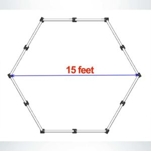 Model #ASPGAGA15. 15' budget GaGa Pit drawing.