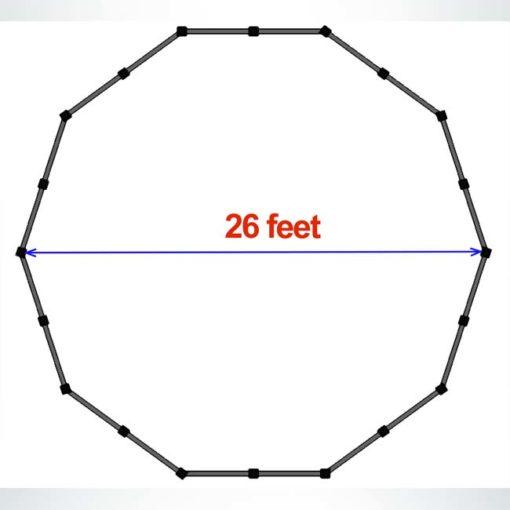 Model #APSGAGA26. 26 foot budget gaga pit.