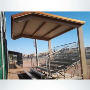 Model #ASG16200204CL. Pre-engineered wood steel fabric shelter.