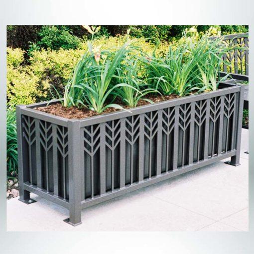 Model #PRSPFP63. Steel planter in spartan bronze.