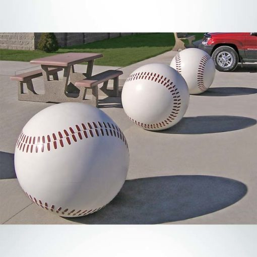 Model #PRBBB36. Concrete baseball bollard.