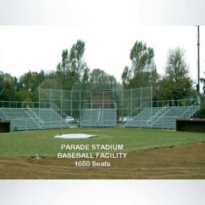 Custom Bleachers for a Baseball Stadium.