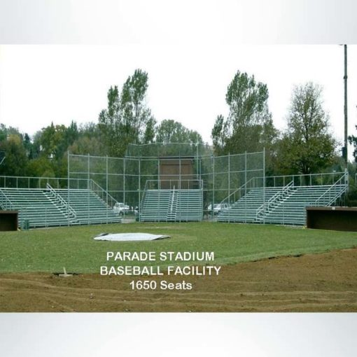 Custom bleachers for a baseball stadium.