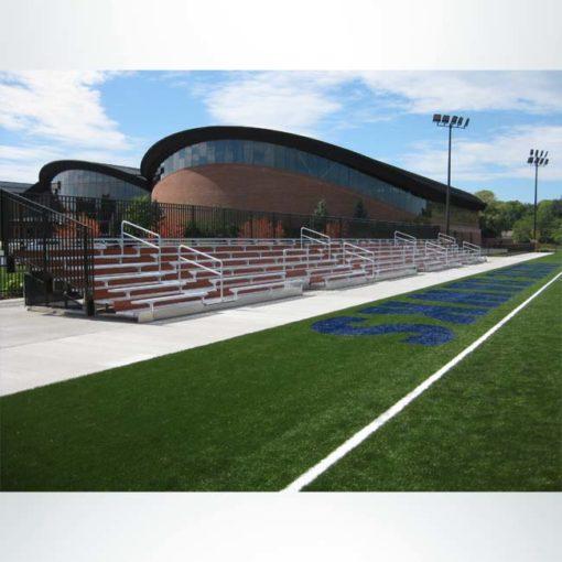 Custom Bleachers for a High School Multi-Sport Field.
