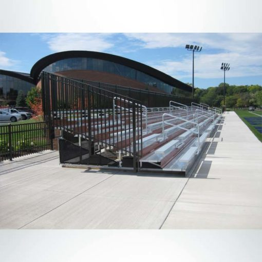 Custom bleachers for a high school multi-sport field.
