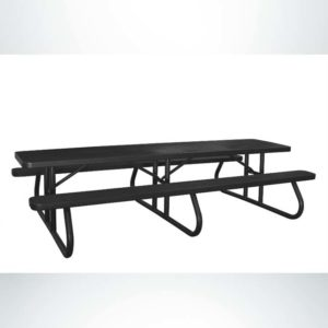 Model # PPS924601O99C. Champion Picnic Table. 10 Foot, Black, Perforated, Free Standing.