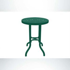 Model #PPA958B81O33C. Bar Height Outdoor Patio Table. 30 Inch Diameter, Hunter Green, Laser Cut.