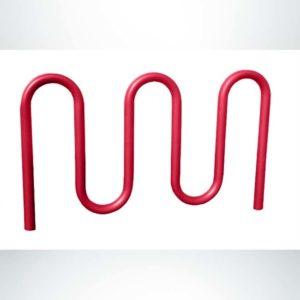 Model #PPS997206011D. Red 3 loop, 7 bikes bike rack.