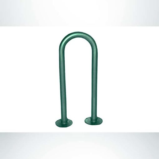 Model #PPS997502033A. Hunter green 1 Loop, 3 bikes bike rack.