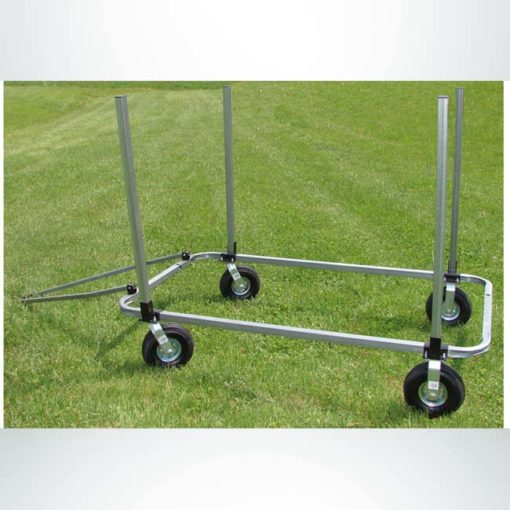 Signature Fence Sport Panel Cart. Outfield portable fencing transport cart.