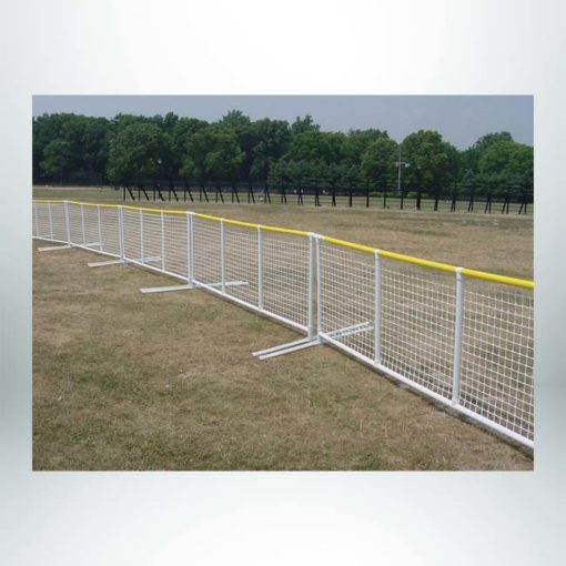 Signature Fence Sport Panel. Outfield portable fencing. Multiple panels attached.