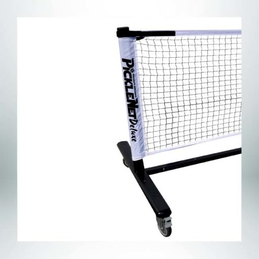 Model #DOUGPB33162. Deluxe portable pickleball net with wheels.
