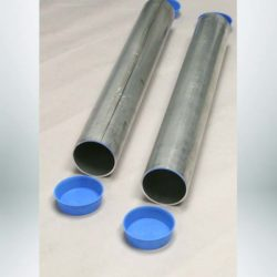 Model #DOUGPB63171. Aluminum Ground Sleeves for all 2-7/8″ OD Round Posts. 24″ in Length and Includes PVC End Plugs. Sold Per Pair.