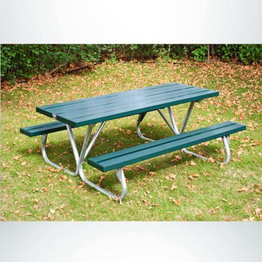 Model #PILRBTUG8AL. 8 ft. aluminum lighter duty picnic table. Powder coated green.