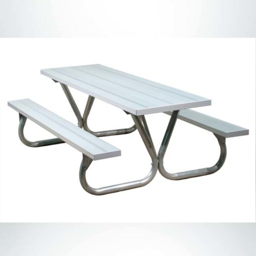 Model #PILRBTXG8AL. Lighter duty 8 foot aluminum picnic table.
