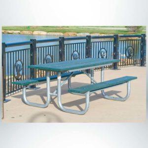 Model #PLRXTG6PU. XT Series 6' Green Recycled Plastic Picnic Table.
