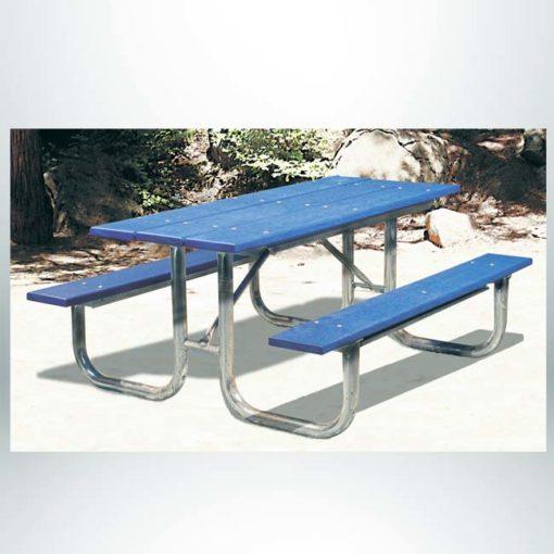 Model #PLRXTG6PU. XT series 6' blue recycled plastic picnic table.