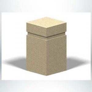 "Model #PRB5. 16"" x 16"" x 28"" Square Concrete Bollard."