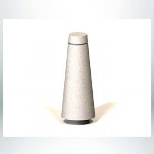 "Model #PRBLT. 12"" x 30"" concrete bollard."