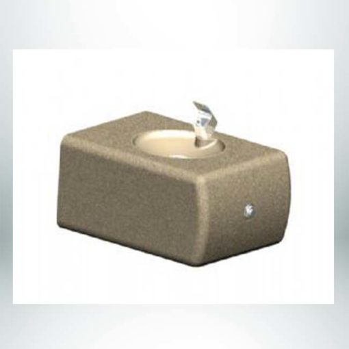 Model #PRDFWM. Wall mount concrete drinking fountain.