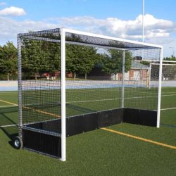 "Model #FHG2AL712PB. Field Hockey Goal Made of 2"" Square Aluminum with Poly Boards."