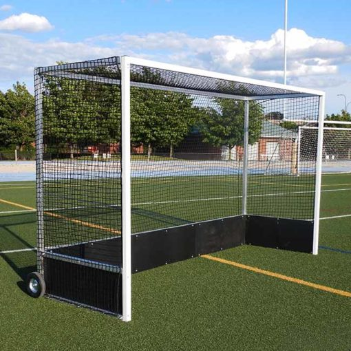 """Model #FHG2AL712PB. Field Hockey Goal Made of 2"""" Square Aluminum with Poly Boards."""