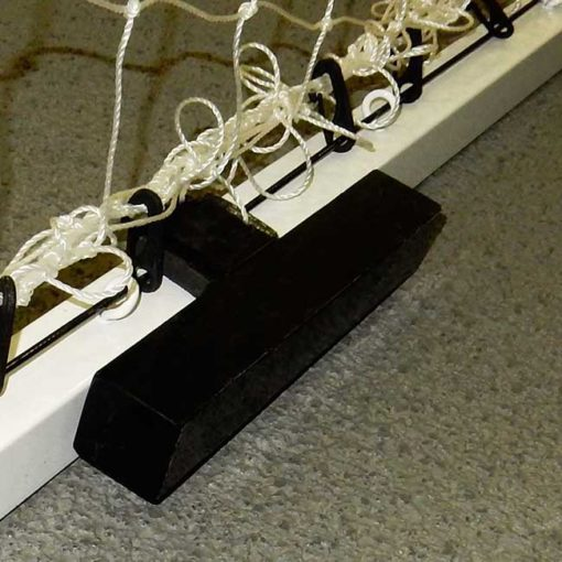 Model #ACW12. Futsal goal anchor weight on sgefutsal goal.